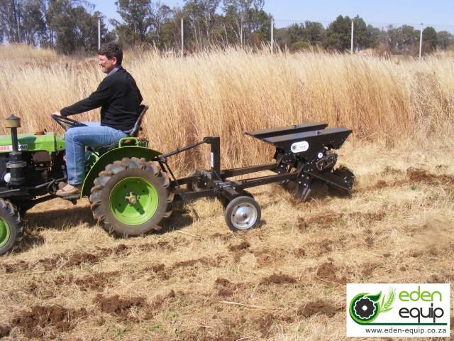 Eden Equip equipment two row mini tractor no till maize planter